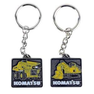 Komatsu Mining Dump/Excavator Keychain